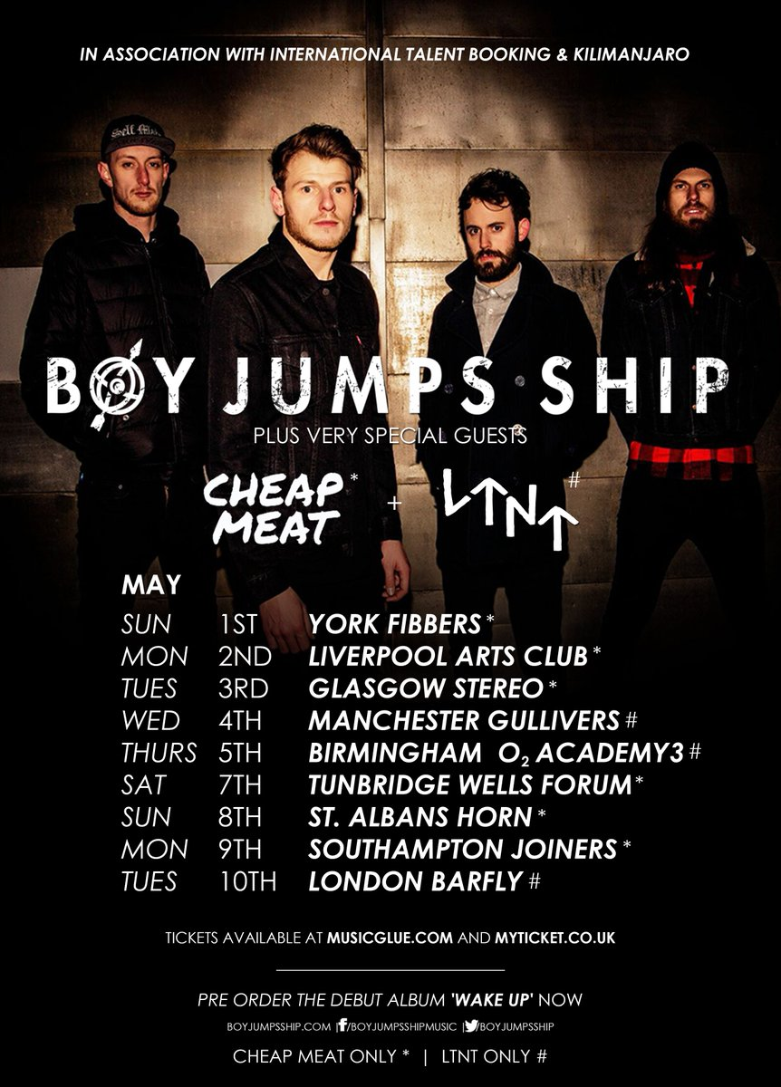 This Sun May 1 @BoyJumpsShip @cheapmeat @VexxesOfficial @OfficialYI tix here https://t.co/DyK9NLKBDO BRING THE ROCK https://t.co/pJwuYMHXP3