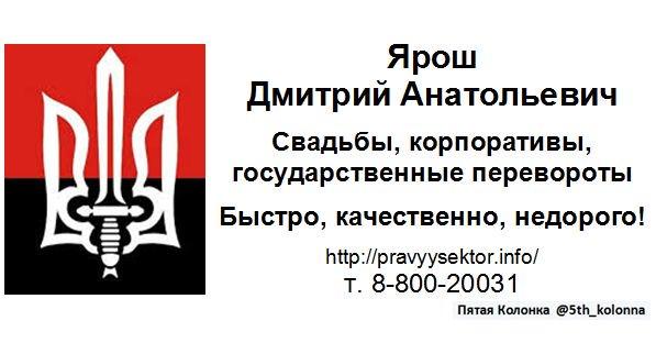 """""""Никакой государственный переворот в России мы не готовили. У нас много своих дел сейчас в Украине"""", - пресс-секретарь """"Правого сектора"""" - Цензор.НЕТ 4334"""