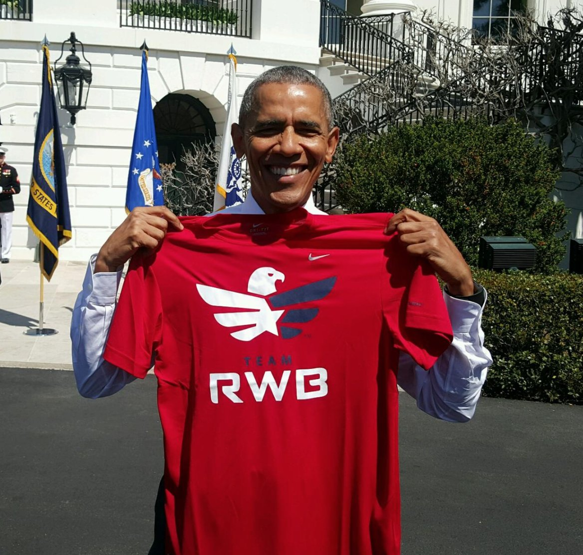 Awesome to see @POTUS rocking the Eagle!
