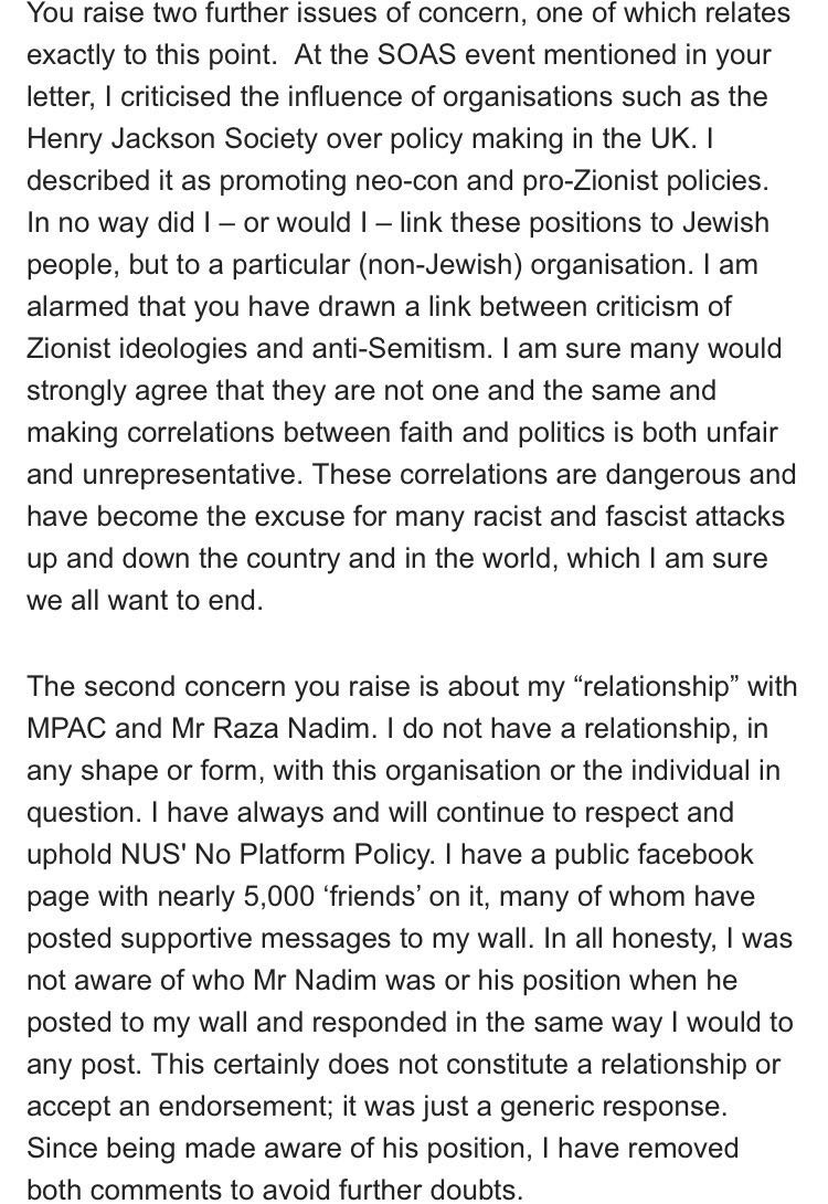 a bouattia on i received an open letter from jewish   a bouattia on i received an open letter from jewish students questions concerns about my nusnc16 campaign