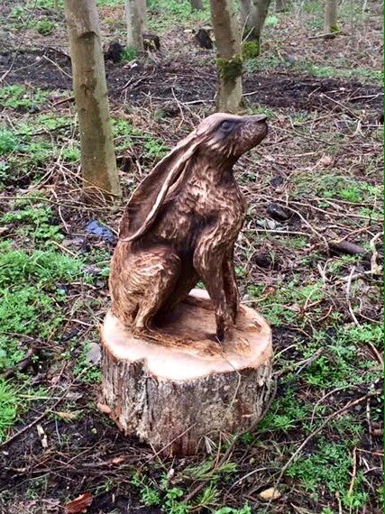 Tommy craggs on twitter quot chainsaw carved hare star