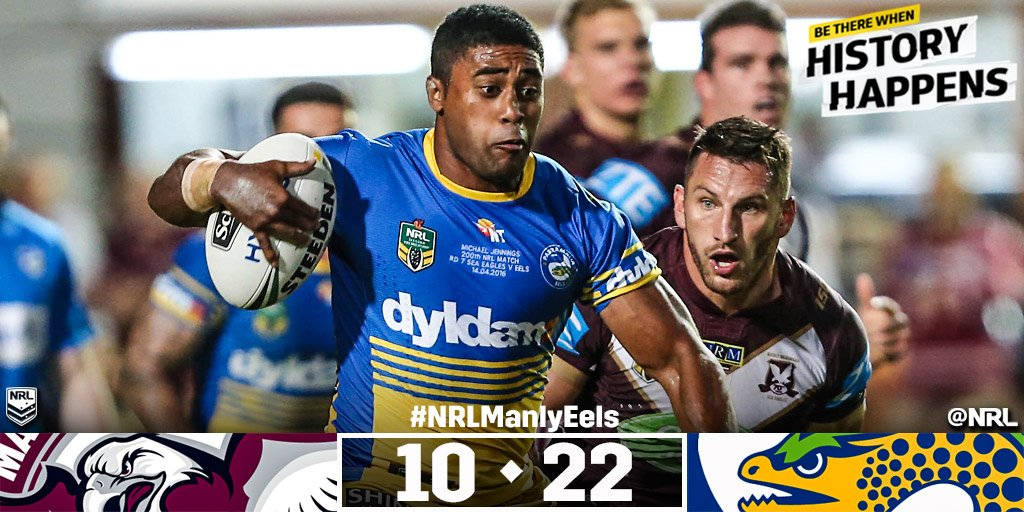 Late surge from Eels hands them victory over Manly at Brookie!  #NRLManlyEels   #NRL