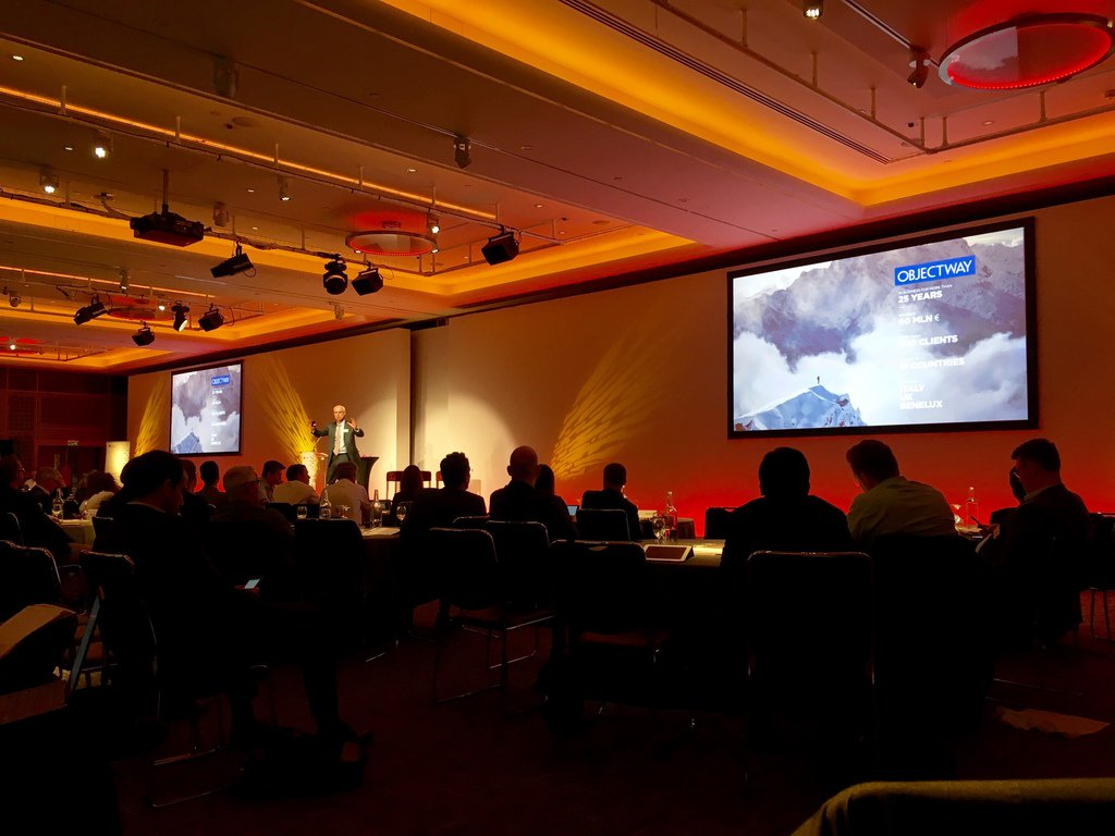 Happy to have had the opportunity to present Objectway on such a stage as #EfmaDS16 @schrammepeter https://t.co/jn9iAaHAhV