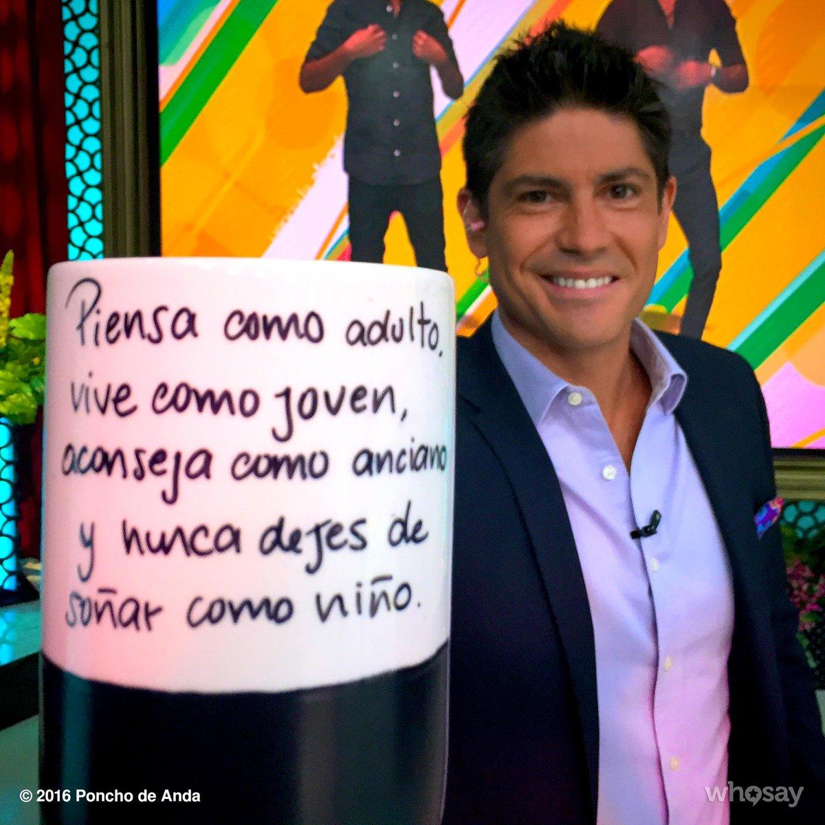 Poncho De Anda Twitterissä Frase Piensa Como Adulto