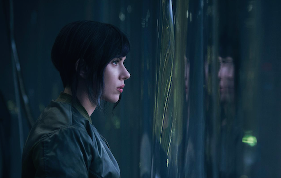 Scarlett Johansson in Ghost in the Shell as Major Motoko Kusanagi