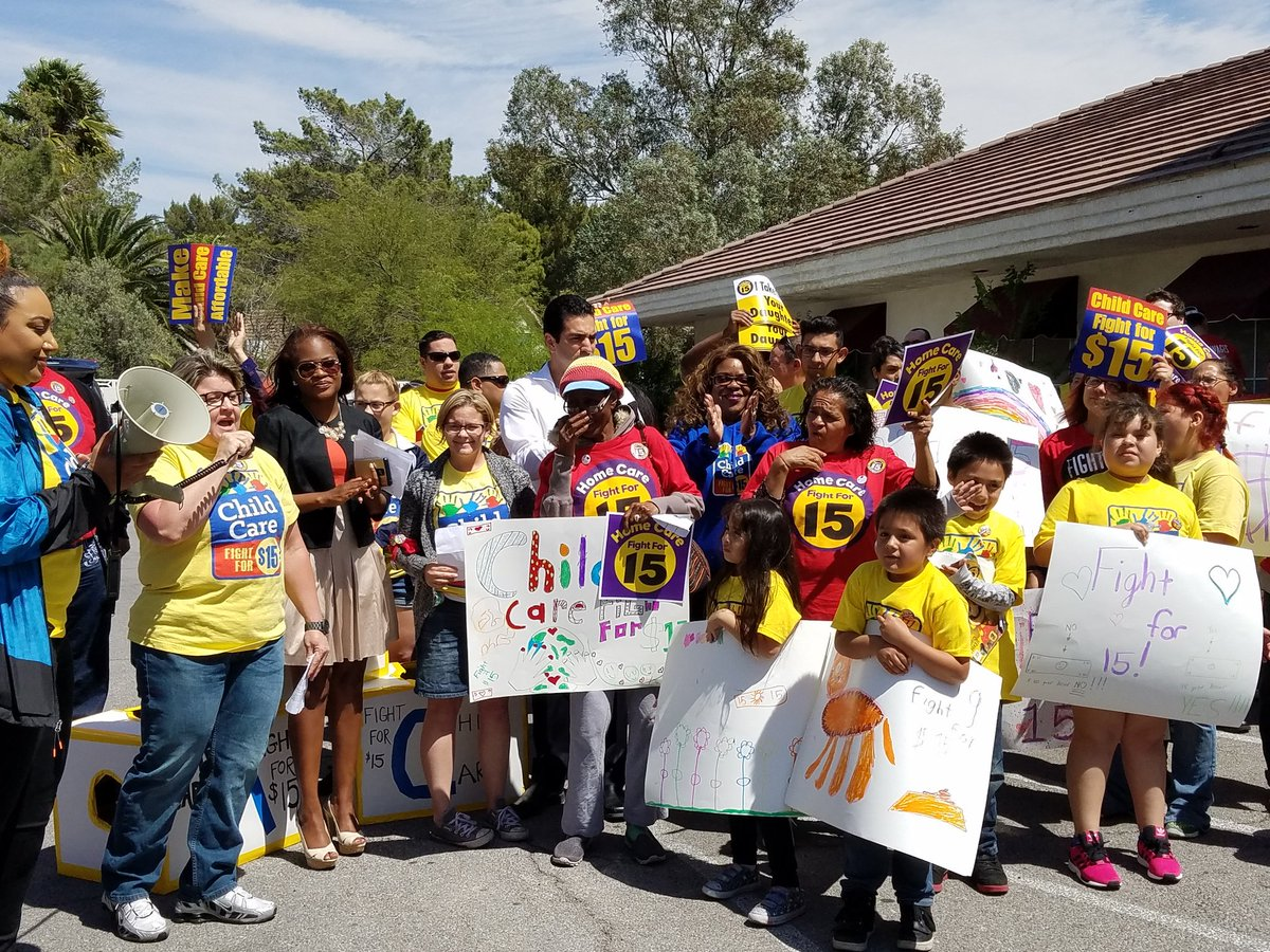 """""""The momentum behind the Fight for $15 is unstoppable.""""-Pres. @CherieMancini #FightFor15 https://t.co/YmJNOCjqRn"""