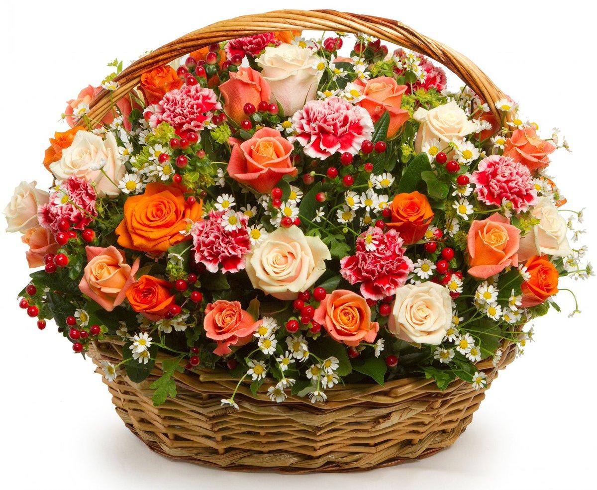 Картинки корзины с букетом роз