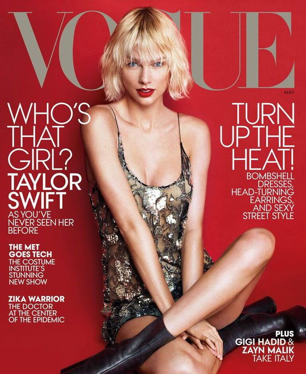 4ccdcafbdb75 Taylor swift wears a  saintlaurent spring 2016 embellished sheer slip dress  for the  vogue may 2016 cover.