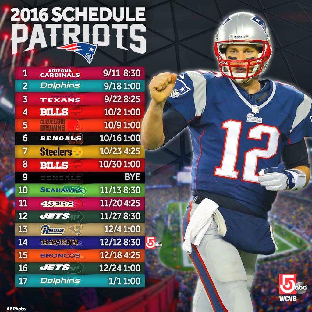 patriots schedule - photo #15
