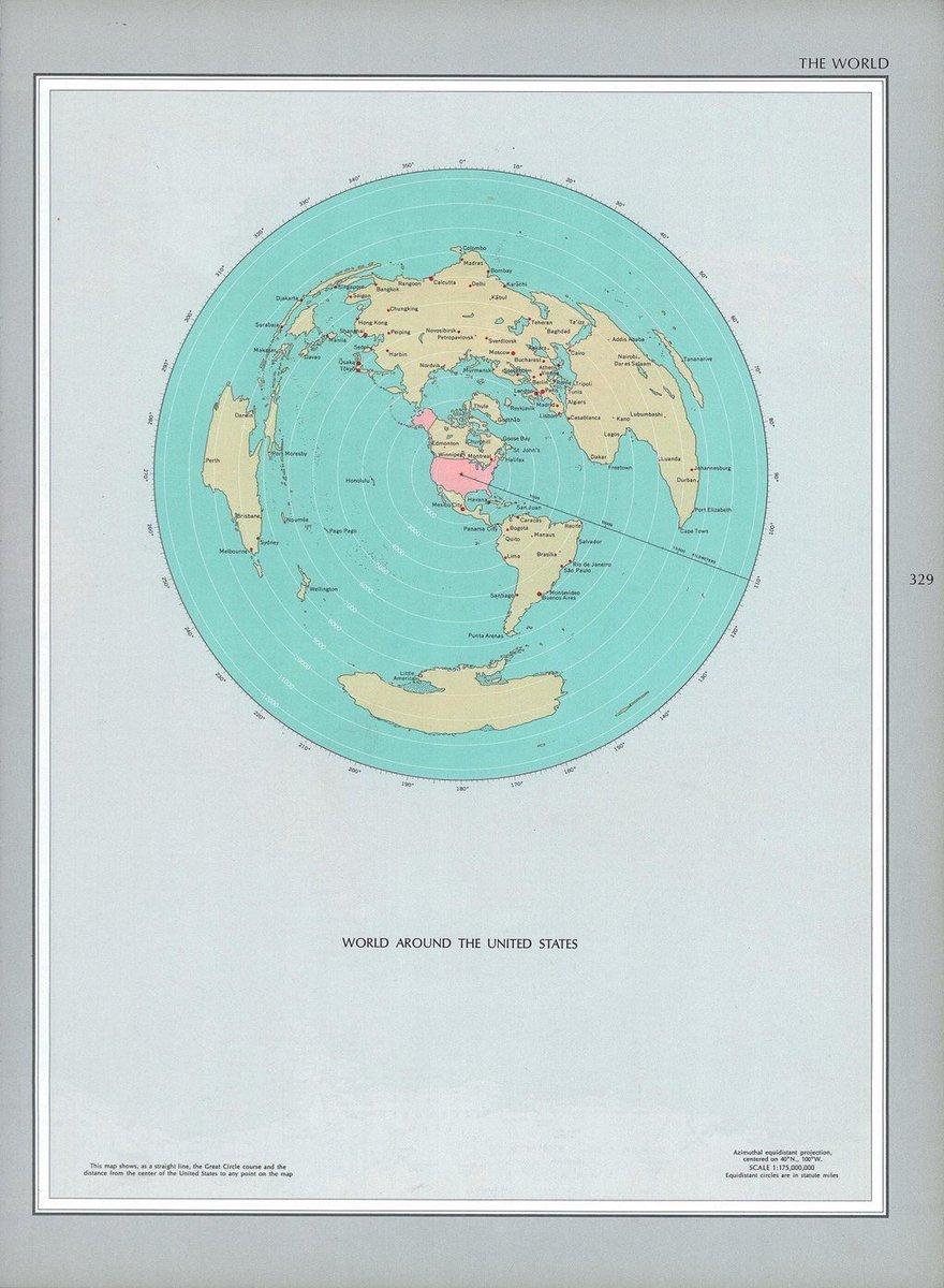 Simon Kuestenmacher On Twitter Beautiful UScentric Map - Us centric map