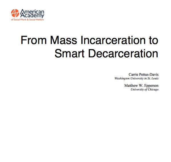 From  @AASWSWorg  is Mikhail Bell, addressing their report on #SmartDecarceration. Welcome, Mikhail!  #MacroSW https://t.co/Akgd8TWZTF