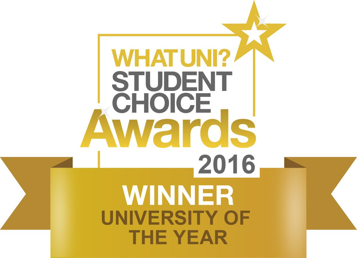 And we've done it! University of the Year at the #WUSCA s Thank you students who put us there. Thank you @whatuni! https://t.co/QeLxkbERx7