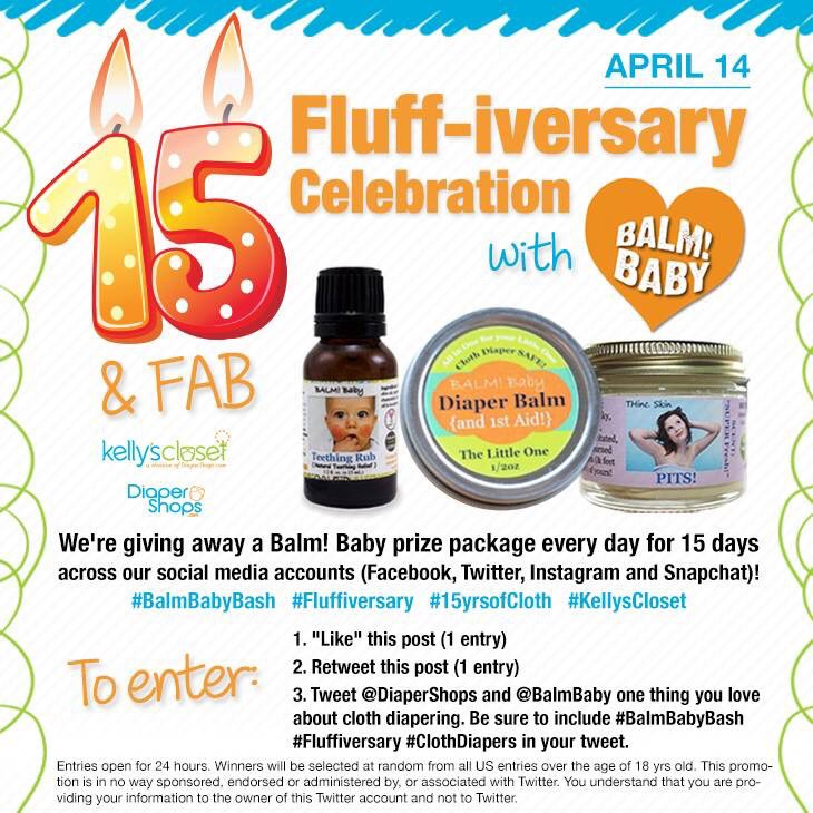 Twitter only giveaway!!! Open for 24 hrs! #balmbabybash #fluffiversary @BALMBaby https://t.co/vKhOZ4LA7u