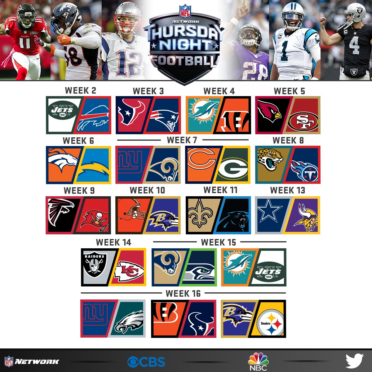 footbal schedule thursday night football schedule tonight