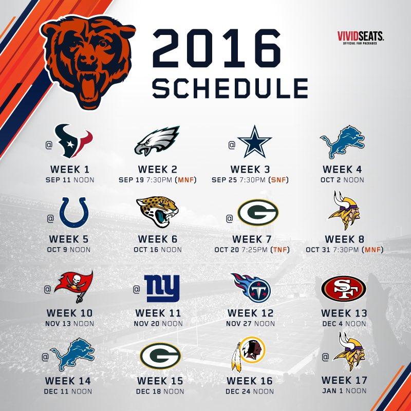 6e8c6f11 Chicago Bears on Twitter: