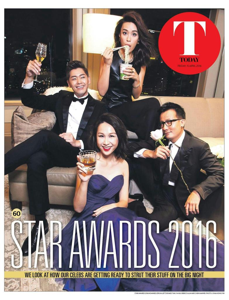 Romeo is on Today's TODAY T-Cover! Grab yours today!  #StarAwards2016 #SA2016SG #RomeoTan #TCA
