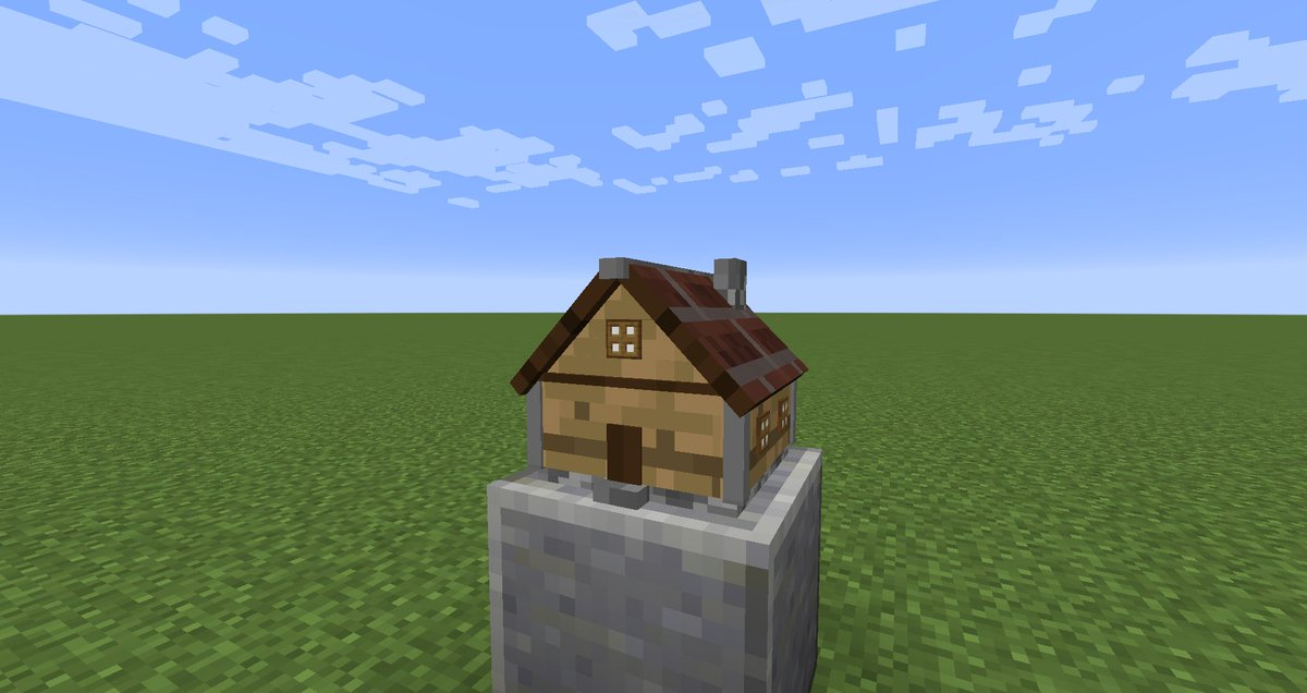 minecraft creations on twitter this might be the smallest minecraft house ever it is a custom 3d model made by elworrier httpstcooazxqm4wcx