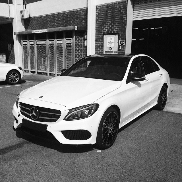 Mercedes benz sa on twitter black and white the new c for Mercedes benz twitter