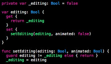 This editing mode transition in Swift seems odd to me. #iosdev #ios https://t.co/TO72Ec4pd0