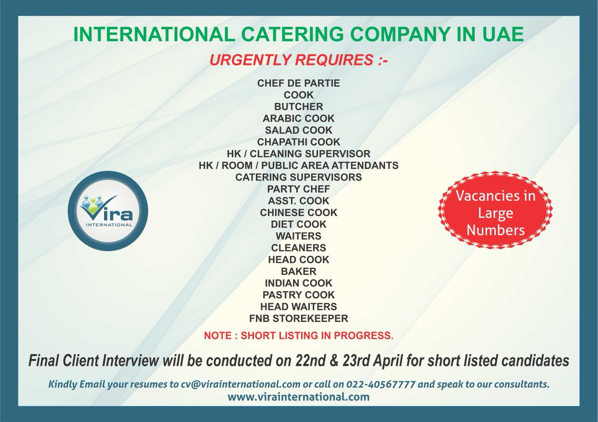 Vira International On Twitter Email Your Resume In Word Format To