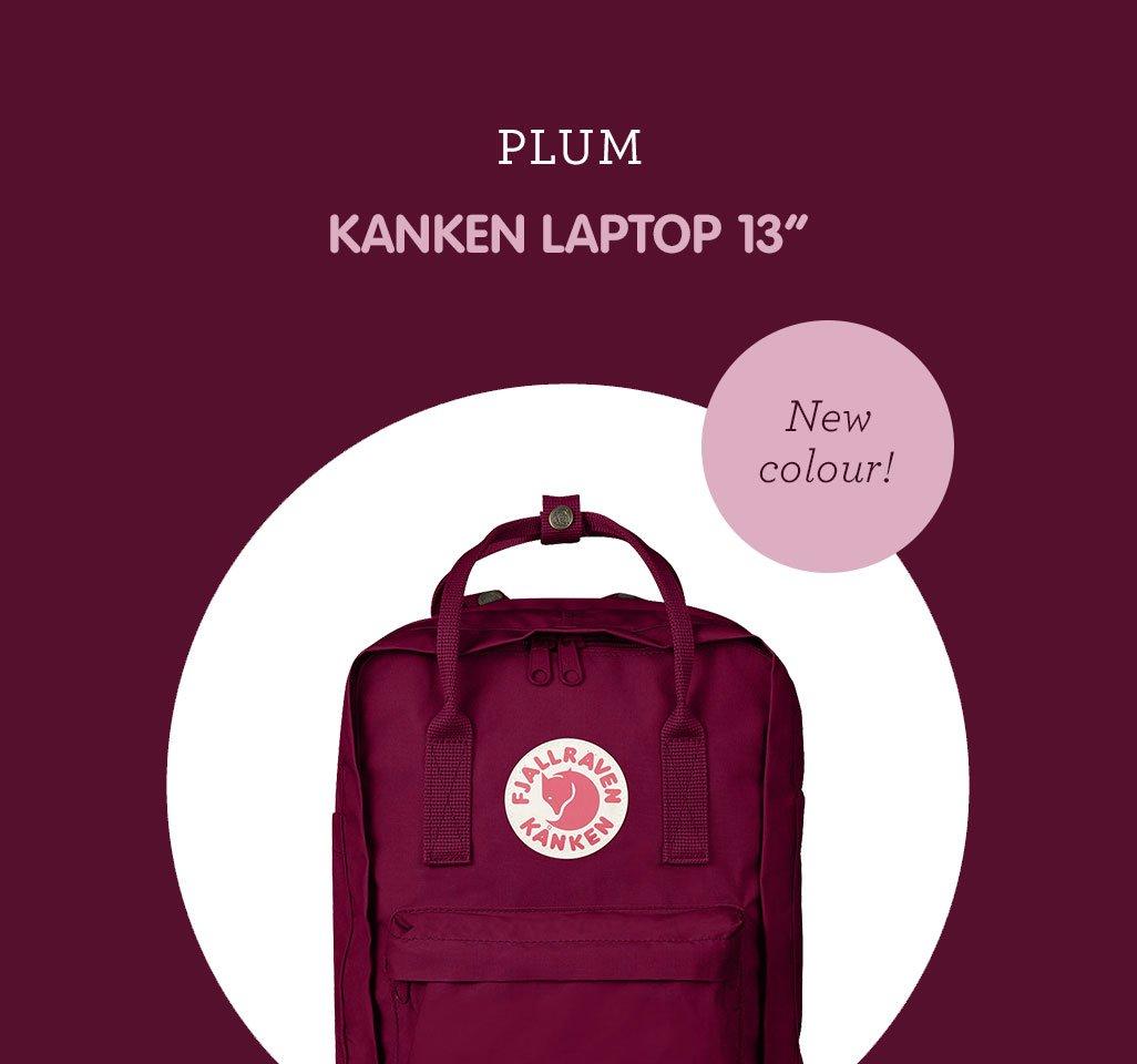 kanken laptop 15 plum