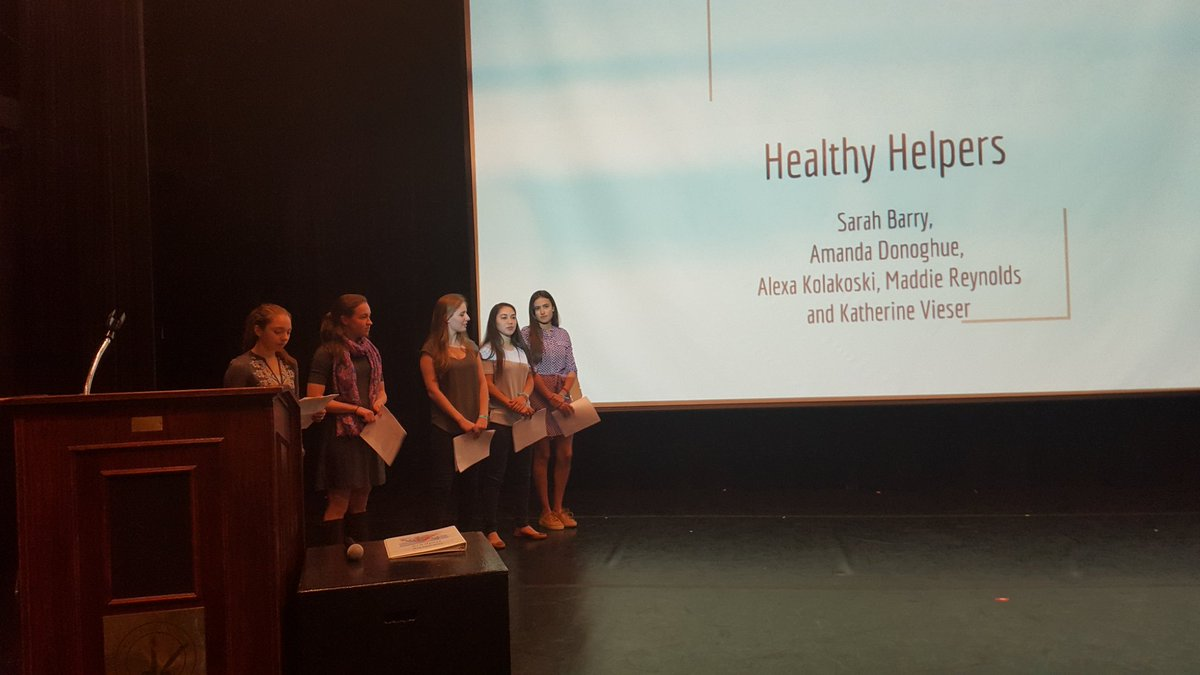 Team Healthy Helpers presenting at the Ethics in Action Summit @EthicsInstitute @kentplaceschool @EthicsLab https://t.co/HmeOPqVeVb