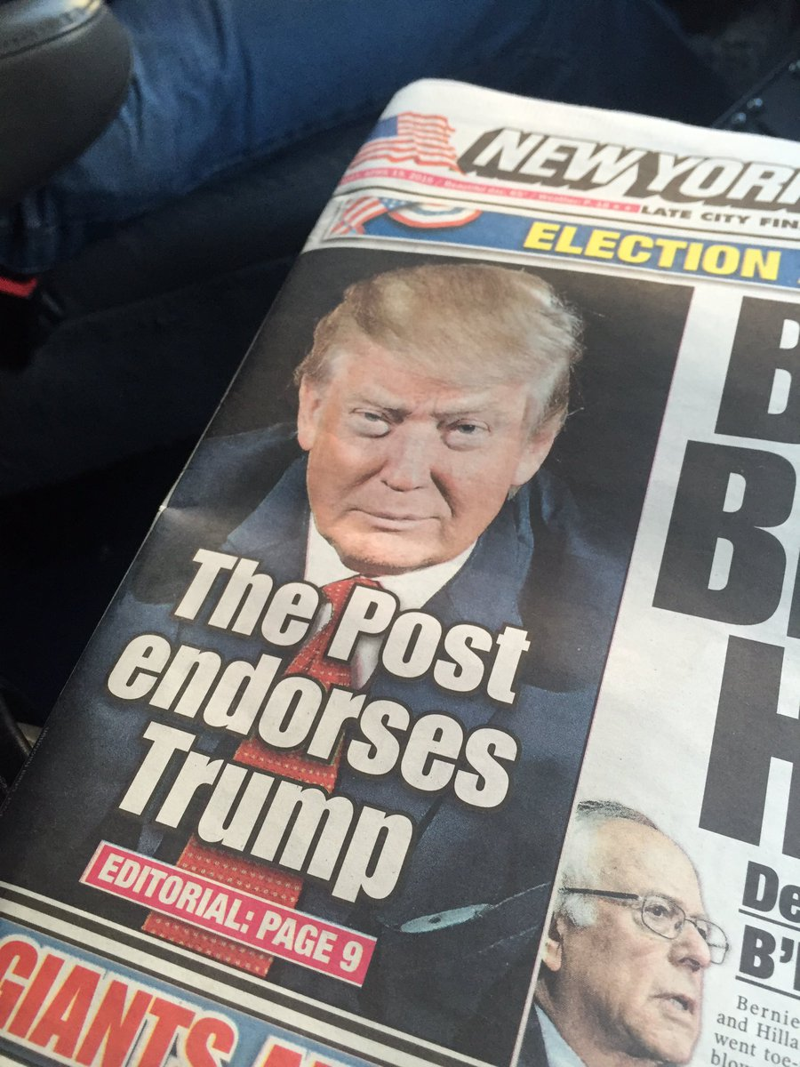 .@nypost endorses the Donald https://t.co/op4MTpydQx