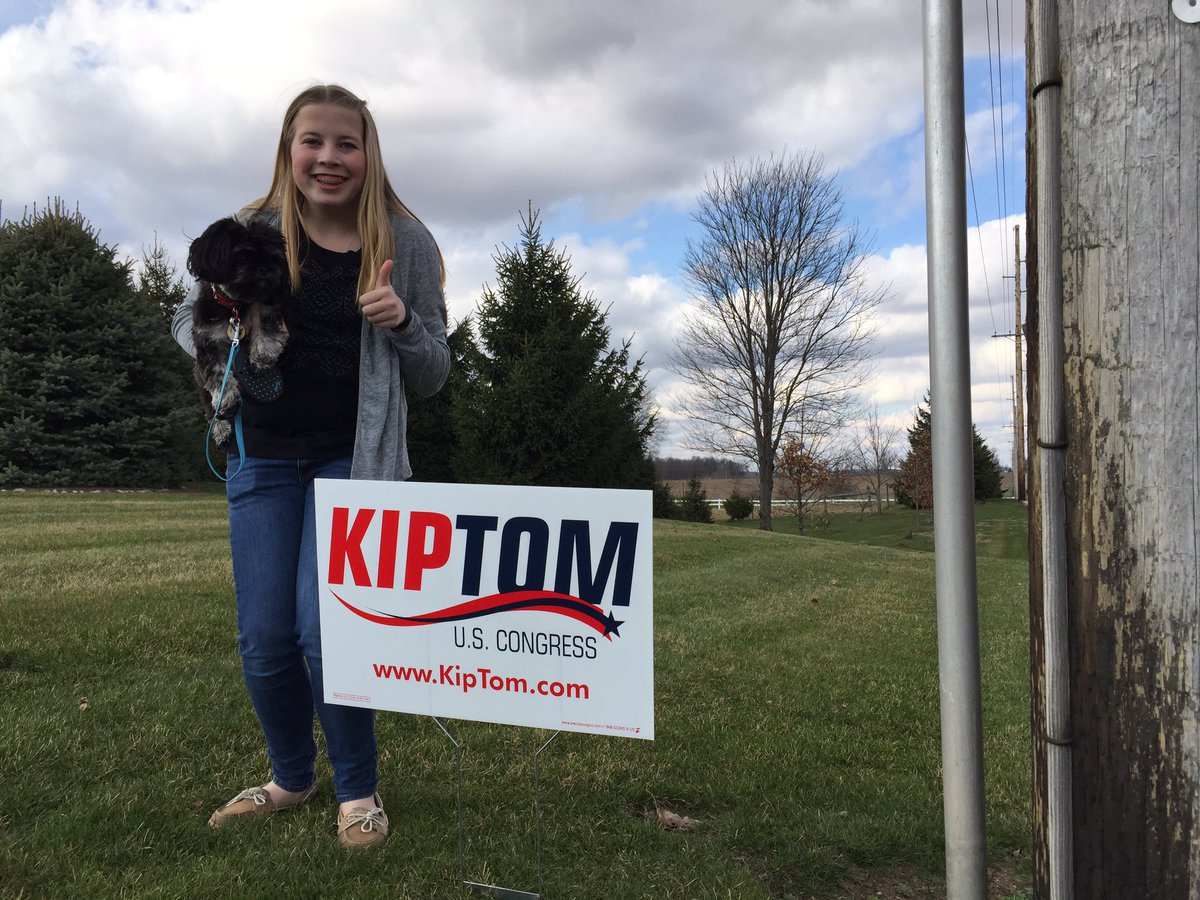 Show your support for @kiptom Post a picture of your yard sign! #KipForCongress #IN03 #May3 https://t.co/qUR8luiclZ