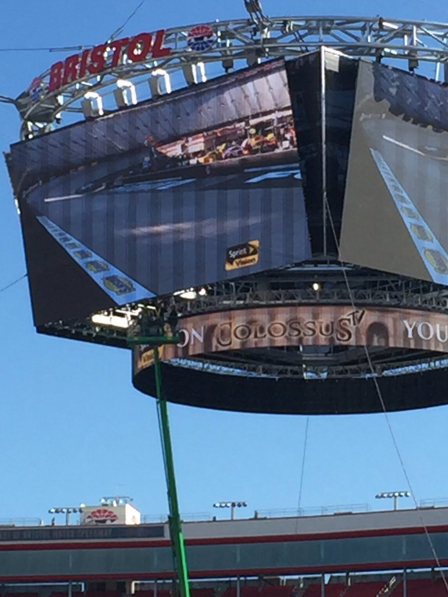 Holy Colossus!! It's definitely big. That's three guys working in a lift under the screen. @BMSupdates @FS1 https://t.co/xknwnqc2J6