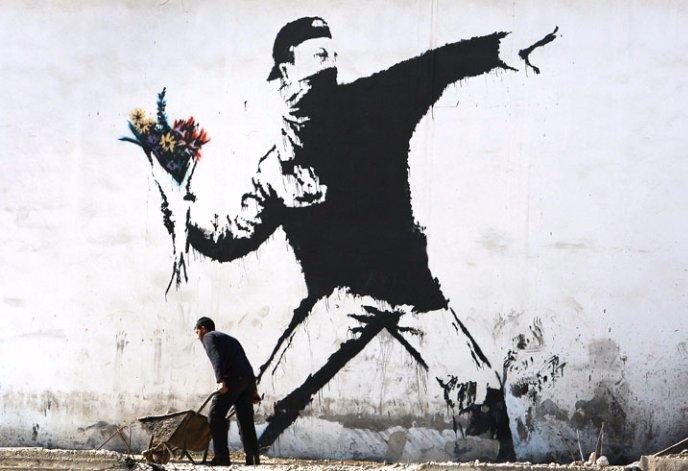 Banksy. #DiaMundialDelArte <br>http://pic.twitter.com/pbxgUzzP3N