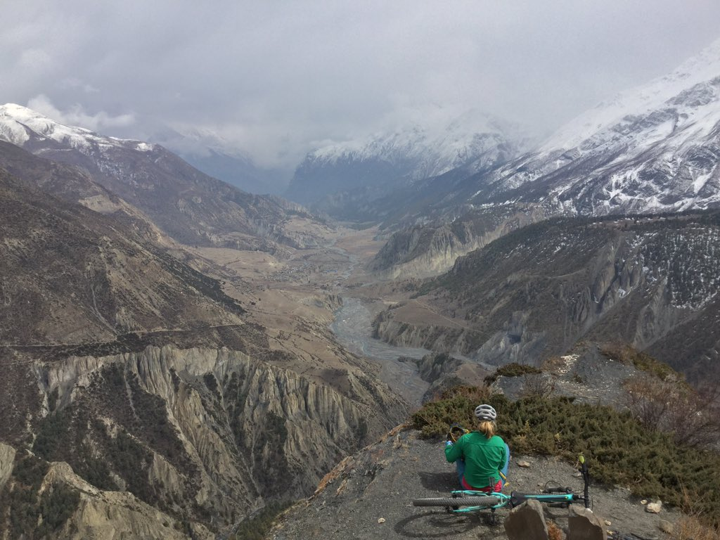 Manang, Nepal from western overlook