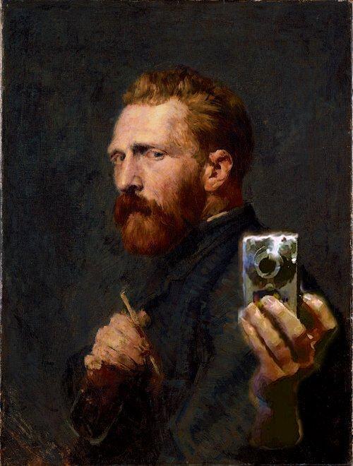 #DiaMundialDelArte #WorldArtDay Vincent van Gogh made many self portraits but never a selfie like this.<br>http://pic.twitter.com/j8lzEcsmhe