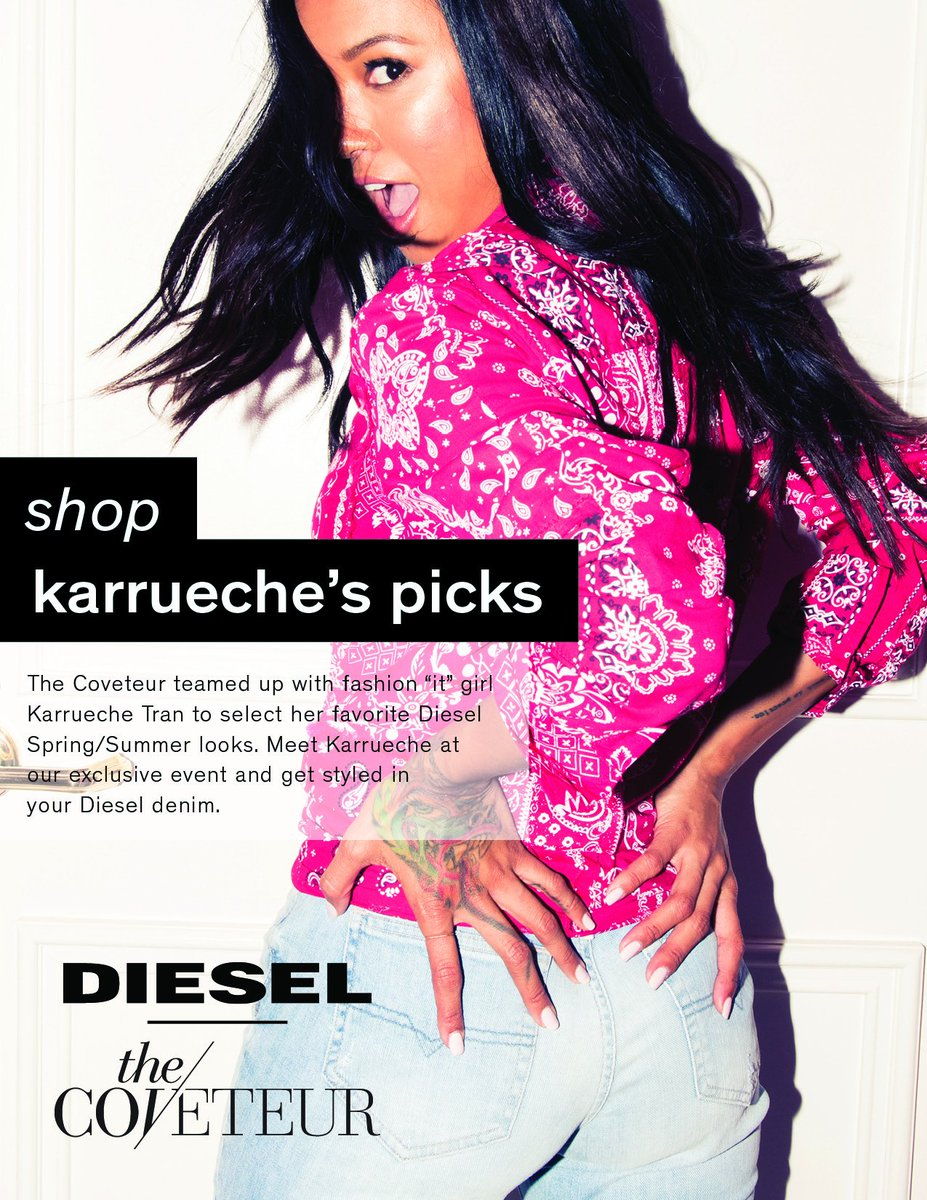 Join @karrueche and @DIESEL for an exclusive denim event with stylish picks from Karrueche herself today from 5-8pm! https://t.co/tI3q72wABv
