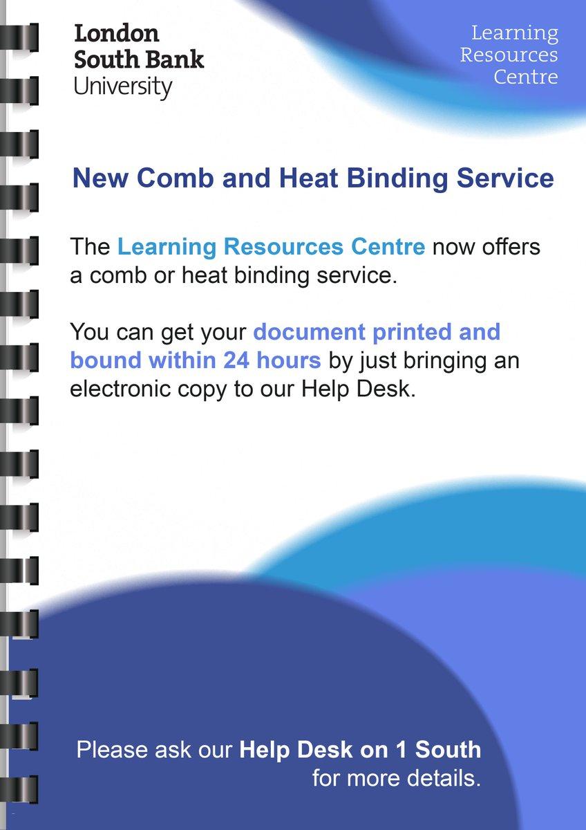 lsbu dissertation binding