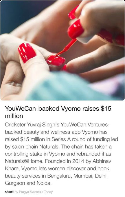 So so proud of @YUVSTRONG12 and YouWeCan for the Vyomo app! A way for women AND men to make appointments easier! https://t.co/qdBW0td2sx