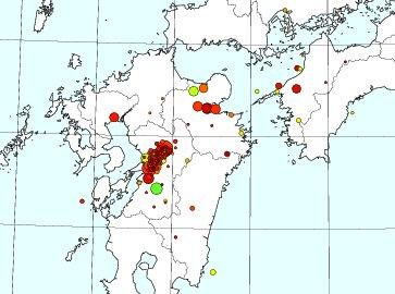 中央構造線にそって、震源域が北東に移動してるぞ。 大分方面で次はゆるれるかもしれないから、避難具チェック!! https://t.co/7yR59q3PZY