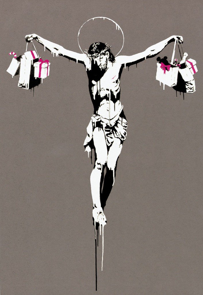 Banksy - 'The True Meaning Of Christmas' 2005 https://t.co/C49JZv3Q6P rt @MichelsJoost