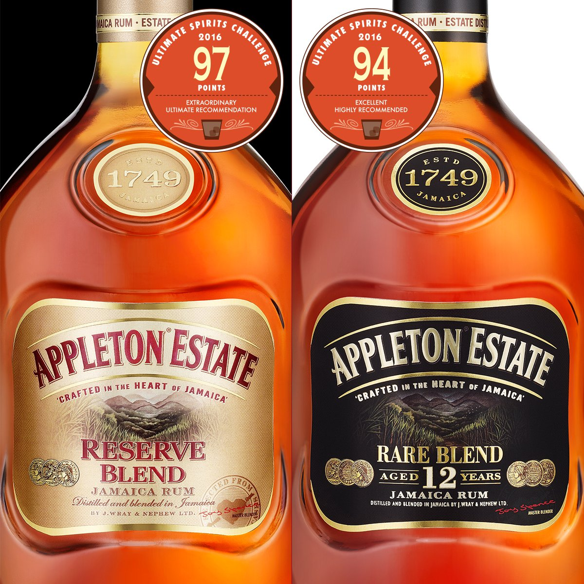 """Appleton Reserve & Rare won high marks at 2016 #UltimateSpiritsChallenge: """"Extraordinary, ultimate recommendation."""" https://t.co/9OoLL01QC5"""