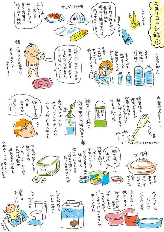 東日本大震災のあとにメモしていた画像がでてきた!なにか役に立てばいいんですが…とどけ!熊本に!#熊本 #震災時に役に立ったもの pic.twitter.com/F8GVfnLSuq