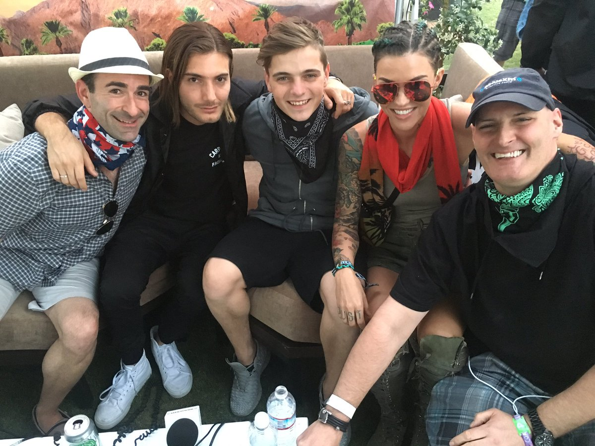 What a crew! @Alesso @MartinGarrix @RubyRose @coachella! #CoachellaSXM @liquidtodd https://t.co/CtA1mP0MHR
