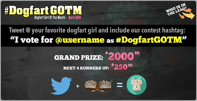1 pic. ????Please vote for me for #dogfartGOTM ! How to vote: Tweet me and include the contest hashtag