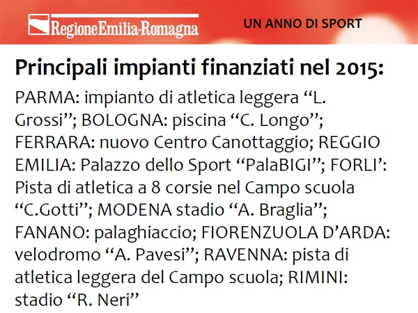 .@andrearossi76 sui principali impianti finanziati nel 2015 da @RegioneER #sporter https://t.co/4kuhEzNvzy