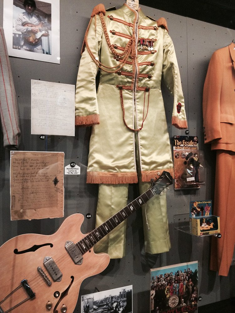 Steve Hoffman On Twitter John Lennon S Epiphone Casino His Sgt Pepper Outfit The Rock And Roll Hall Of Fame I Love This Pic Awesome