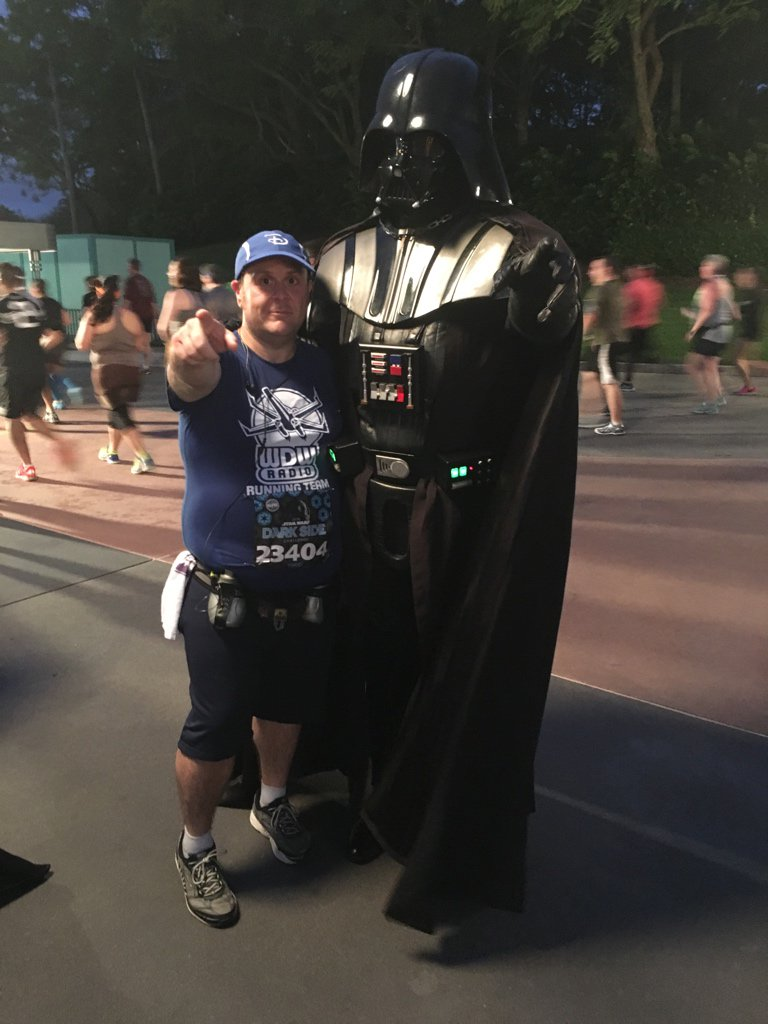 Had to visit with Lord Vader #StarWars10K https://t.co/Axxc9HOrGb
