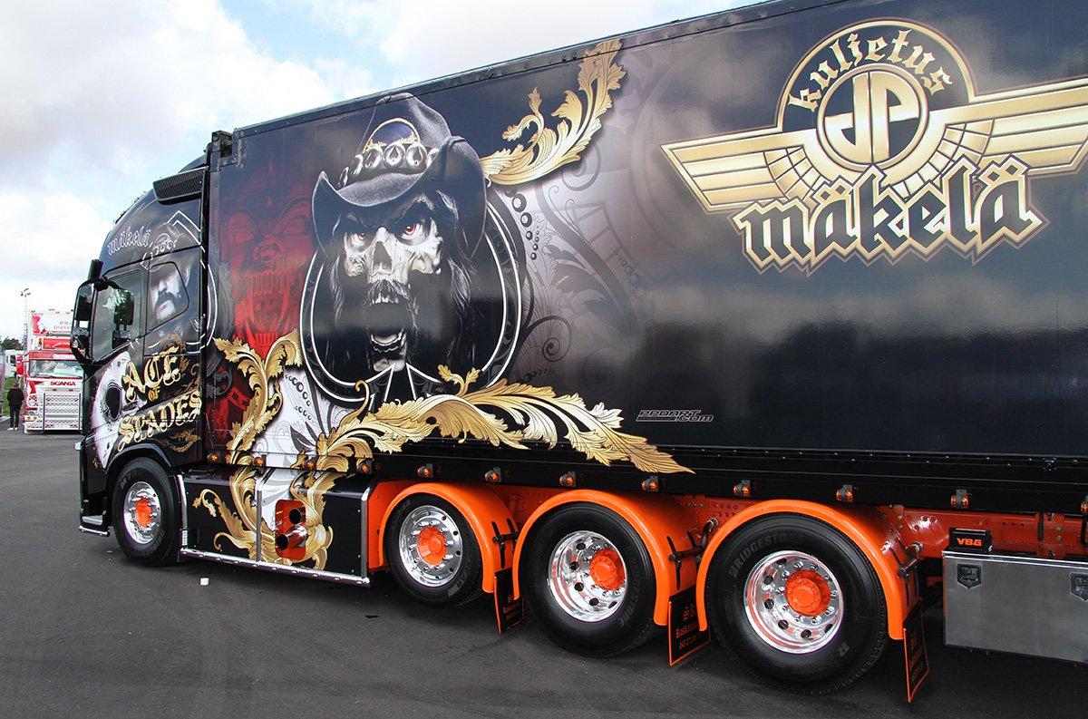 "Volvo Trucks on Twitter: ""The 'Ace of Spades' truck - as heavy metal as it gets! https://t.co/JtXD4KCbQv… """