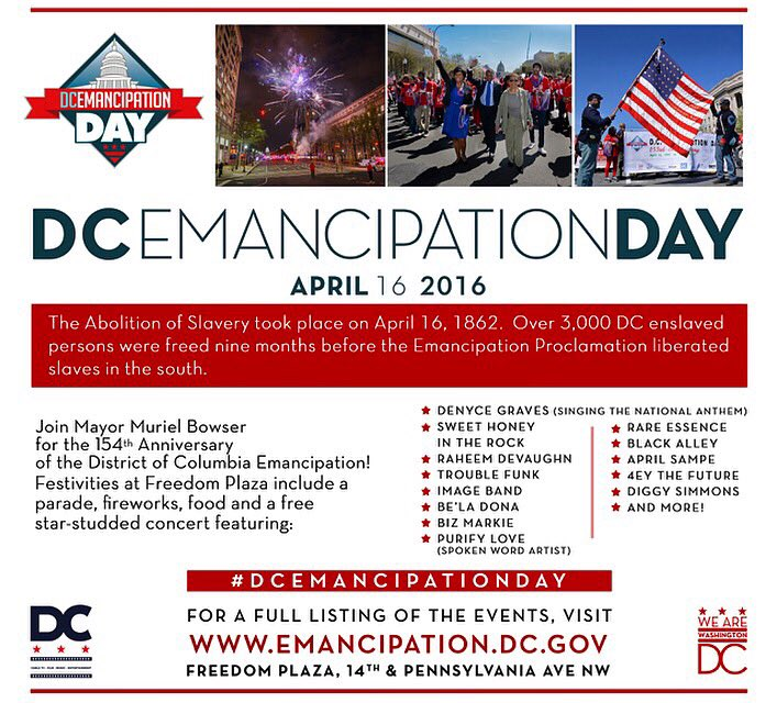 [TODAY] #DCEmancipationDay https://t.co/iLcO2Q1Sg2   #Music