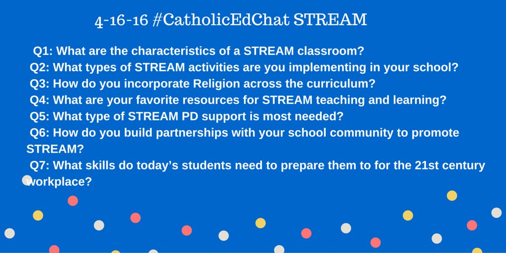 Today's topic for #CatholicEdChat with @NCEATALK see you at 8 am CST https://t.co/bzQHczY2Sl