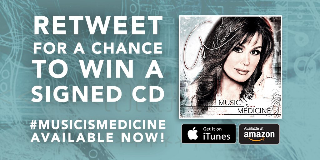 RETWEET + follow for a chance to win a SIGNED #MusicIsMedicine CD!