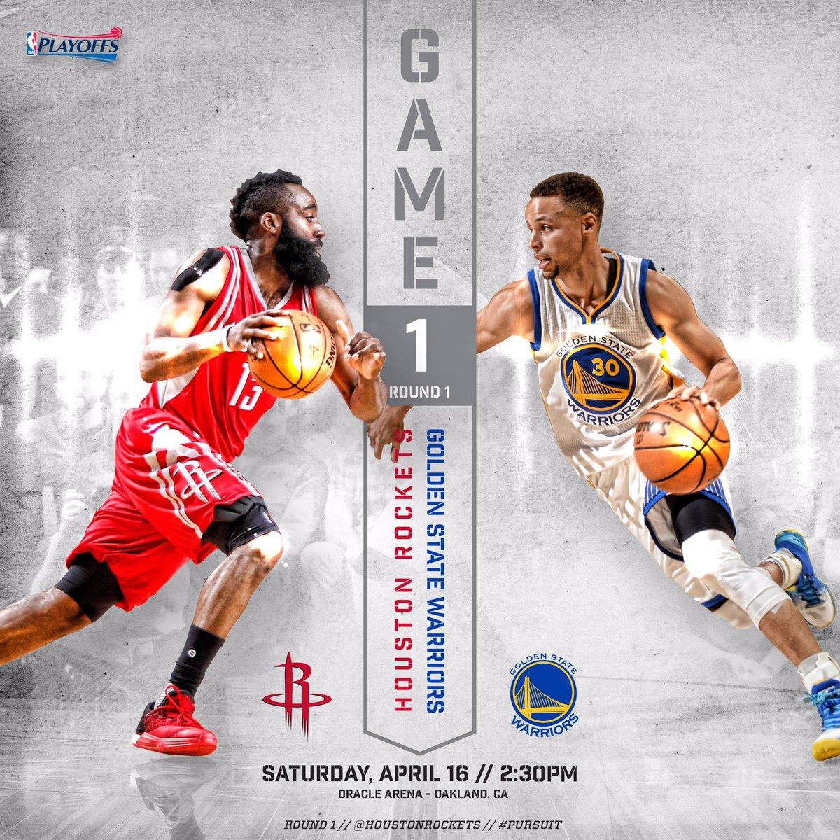 """Houston Rockets On Twitter: """"Round 1. Game 1. #NBAPlayoffs"""