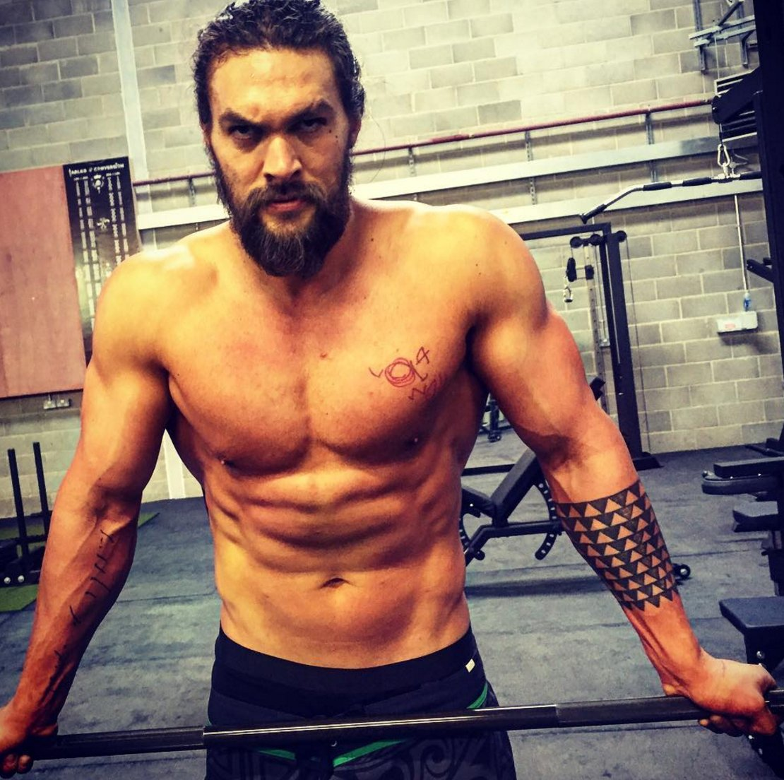 """Jason Momoa Tattoos: Instinct Magazine On Twitter: """"'Aquaman' Jason Momoa Shows"""